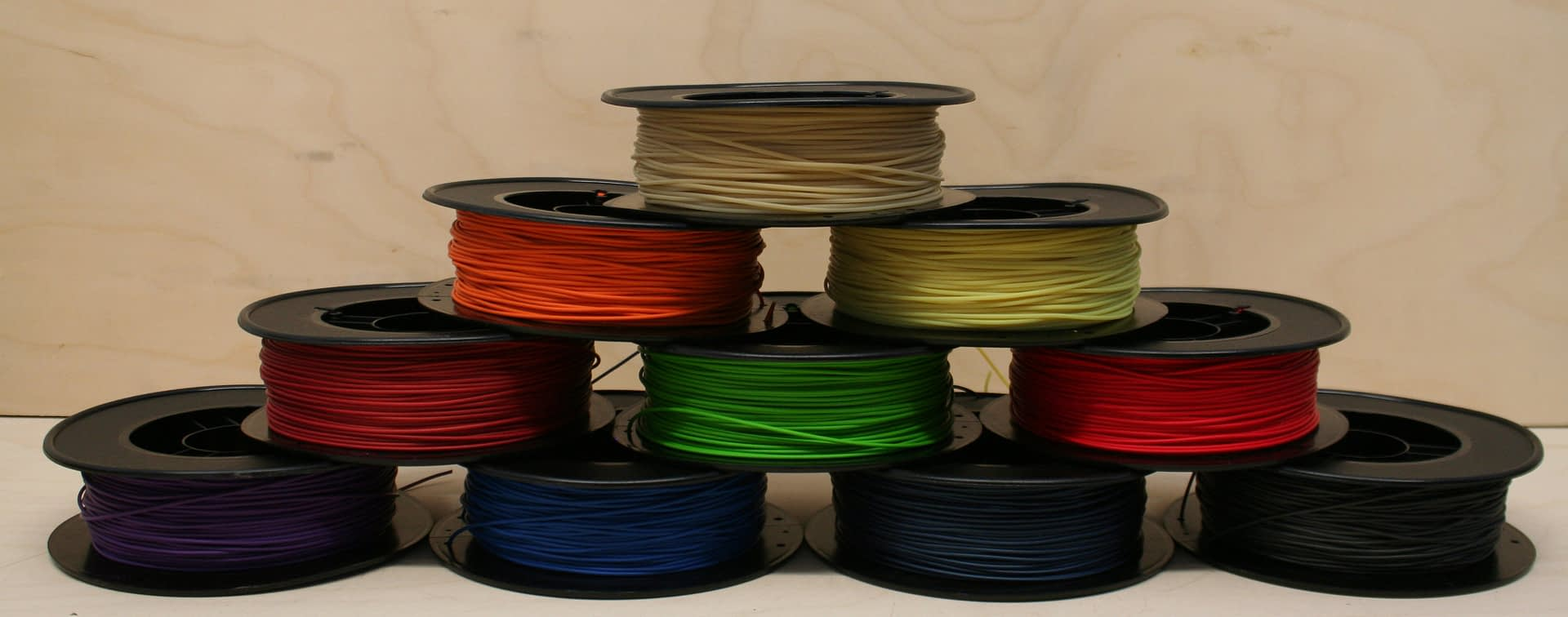 Pyramid of WillowFlex Filament Spools
