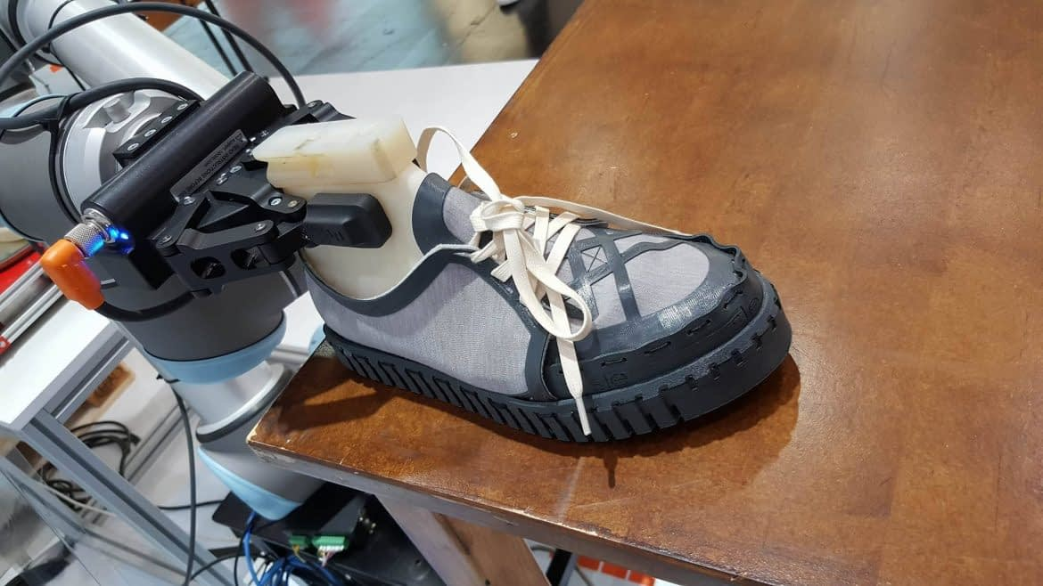 Demonstration Shoe produced with WillowFlex 3D Printer Filament