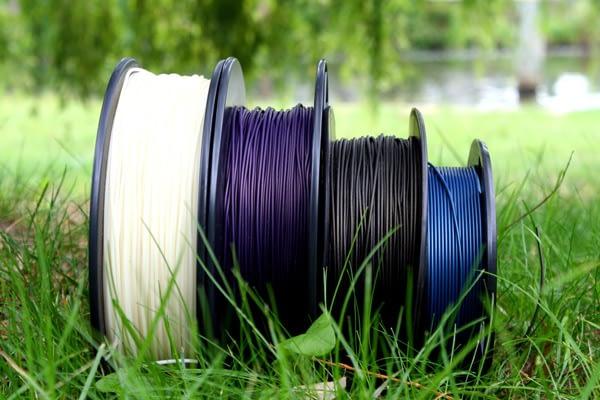 WillowFlex 3D Printer Filament original marketing shot from 2015