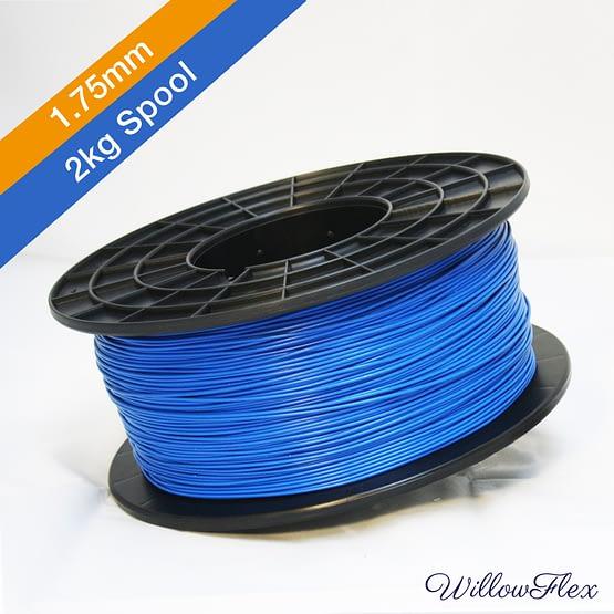 2kg spool of Willow Flex, Ocean Blue 3D Print Filament